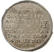 1 Groschen - Philipp Karl von Eltz-Kempenich (Death; Sterbegroschen) – reverse