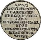 ⅛ Thaler - Emmerich Josef von Breitenbach (Death; 1/8 Sterbetaler) – reverse