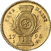 1 Kreuzer - Friedrich Karl Joseph (Gold pattern strike) – reverse