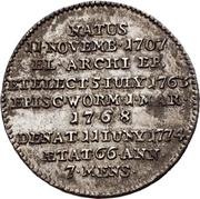 ⅓ Thaler - Emmerich Joseph von Breitbach-Bürresheim (Death) – reverse