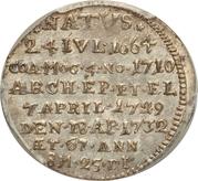 1 Groschen - Franz Ludwig (Death of Franz Ludwig) – reverse