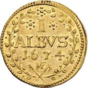 1 Albus - Lothar Friedrich von Metternich Burscheid (Gold pattern strike) – reverse