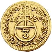 1 Dreier - Anselm Franz von Ingelheim (Gold pattern strike) – reverse