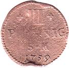 3 Pfennig - Johann Friedrich Karl – reverse