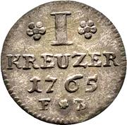 1 Kreuzer - Emmerich Joseph von Breidbach-Bürresheim – reverse