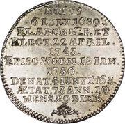¼ Thaler - Johann Friedrich Karl – reverse