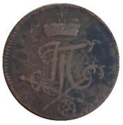 1 Pfennig - Johann Friedrich Karl Graf von Osten – obverse