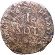 1 Sol - Friedrich Karl Josef (Siege of Mainz) – reverse
