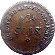 2 Sols - Friedrich Karl Joseph (Siege of Mainz) – reverse