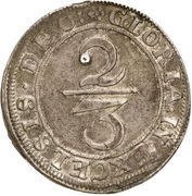 ⅔ Thaler (Siege coinage) – reverse