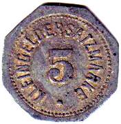 5 Pfennig - Mainz – reverse