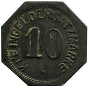 10 Pfennig - Mainz – reverse