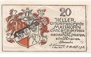 20 Heller (Maishofen) – obverse
