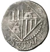 2 Reales - Carlos II (small crown) -  reverse