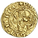 ¼ Real - Pedro IV (shell) – obverse