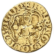 ¼ Real - Pedro IV (rose) – obverse