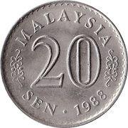 20 Sen - Agong -  reverse