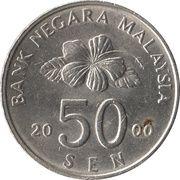 50 Sen - Agong -  reverse