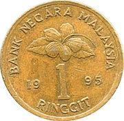 1 Ringgit - Agong X (Type 2 denomination) -  reverse