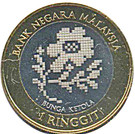 1 Ringgit - Agong XII (Songket - The Regal Heritage) – obverse