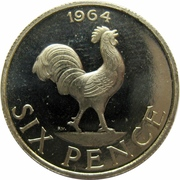 6 Pence – reverse