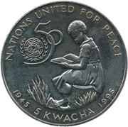 5 Kwacha (United Nations) – reverse