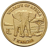 5 Kwacha (Wildlife of Africa) – reverse