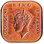 1 Cent - George VI (larger type) – obverse