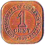 1 Cent - George VI (larger type) – reverse