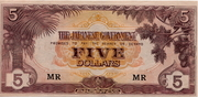 5 Dollars (Japanese Government) – obverse