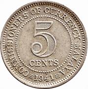5 Cents - George VI – reverse