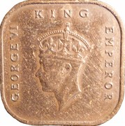 1 Cent - George VI (smaller type) – obverse