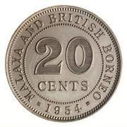 20 Cents - Elizabeth II (1st portrait) – reverse