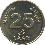 25 Laari (non-magnetic) -  reverse