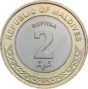 2 Rufiyaa -  reverse