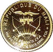 100 Francs (10 Years Palladium Maple Leaf) – obverse