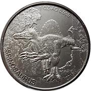 1000 Francs CFA (Spinosaurus) – reverse