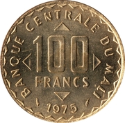 100 Francs (FAO) – obverse