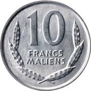 10 Francs Maliens – reverse