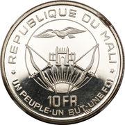 10 Francs (Independence; Piedfort Essai) – reverse