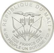 1000 Francs CFA (San José) – obverse