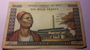 10000 Francs – obverse
