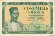 5 000 Francs – obverse