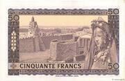 50 Francs – reverse