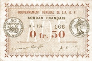 50 Centimes (French Sudan) – obverse