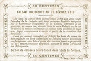 50 Centimes (French Sudan) – reverse