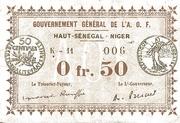 50 Centimes (Upper Senegal & Niger) – obverse