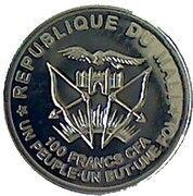 100 Francs CFA - Notre-Dame de Lourdes – obverse