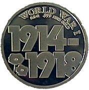 100 Francs CFA - Armistice Guerre 1914-1918 – reverse