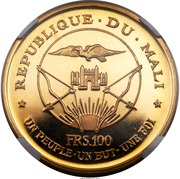 100 Francs (Independence) – obverse